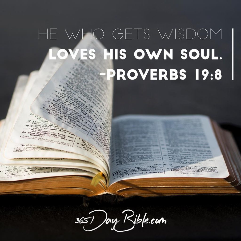 The one who gets wisdom loves life the one whohellip