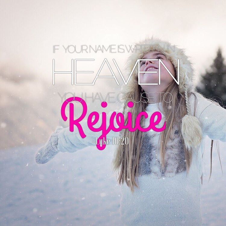 But dont rejoice because evil spirits obey you rejoice becausehellip