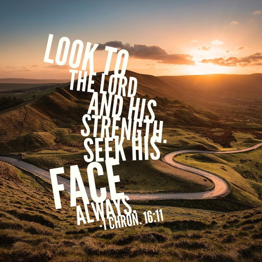 Look to the Lord and his strength seek his facehellip