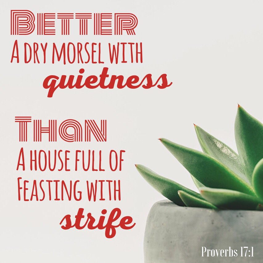 Better a dry morsel with quietness than a house fullhellip