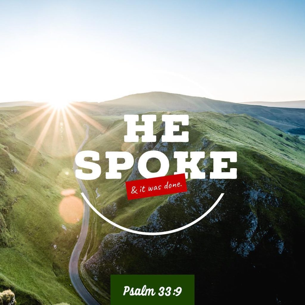 For He spoke and it was done He commanded andhellip