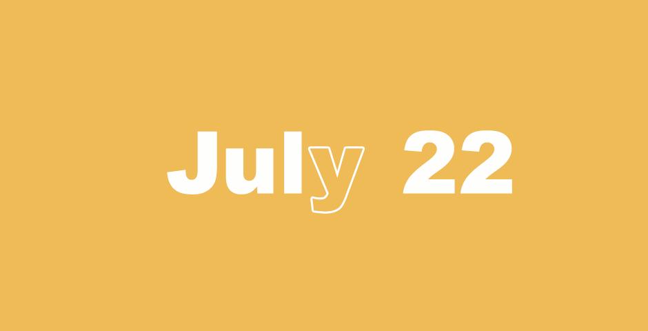 July 22 – 365 Day Bible